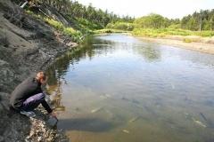 4.Замеры уровня кислорода и температуры в реке Большая Хузи