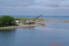 1.Перекрытие РУЗом устья р.Лазовая, 25.07.2009. ЛРЗ на реке имеется.