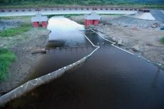 2.Устье реки Баклановка полностью перекрыто РУЗ, на нерест рыба не пропускается, 13 августа 2010 г.123456