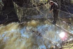 9.Браконьерская загородка, полностью перекрывающая ход рыбы в реке. 07.09.2010