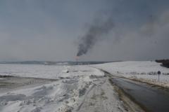 11.Факел на заводе СПГ в Пригородном, Корсаковский район, 8 марта 2009
