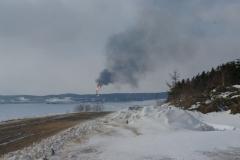 12.Факел на заводе СПГ, Пригородное, Корсаковский район, 8 марта 2009