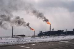 14.Факел на заводе СПГ, Пригородное, Корсаковский район, 8 марта 2009