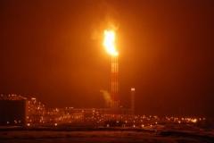 15.Факел на заводе СПГ, Пригородное, Корсаковский район, 9 марта 2009