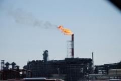 18.Факел на заводе СПГ, Пригородное, Корсаковский район, 10 апреля 2009