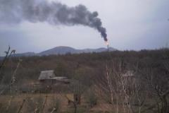2.Факел на заводе СПГ, Пригородное, Корсаковский район, 11 мая 2009