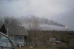 3.Факел на заводе СПГ, Пригородное, Корсаковский район, 19 мая 2009