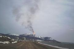 4.Факел на заводе СПГ, Пригородное, Корсаковский район, 23 мая 2009