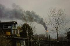 8.Факел на заводе СПГ, Пригородное, Корсаковский район, 10 мая 2009