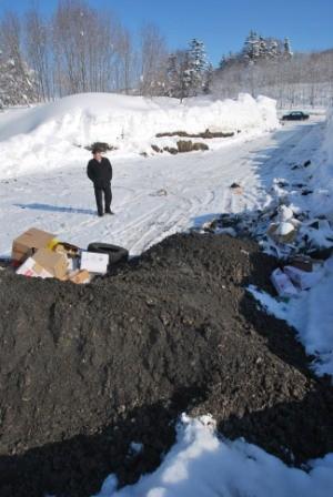Несанкционированная свалка бытового мусора, угольного шлака