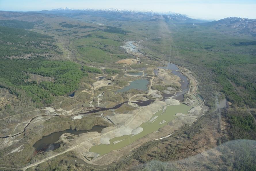 Panorama razrushennoy doliny Langeri v rayone r  Kuzkin